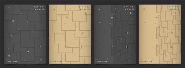 Conception de menu de couverture géométrique