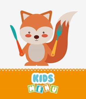 Conception de menu pour enfants