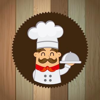 Conception de menus sur illustration vectorielle fond marron