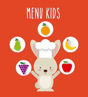 Conception de menus pour enfants, illustration vectorielle illustration eps10