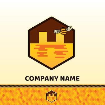 Conception de miel et d'abeilles.