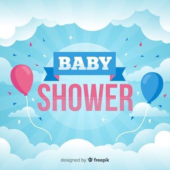 Conception mignonne de douche de bébé