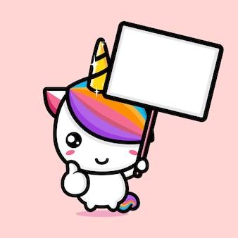 Conception mignonne de mascotte de licorne