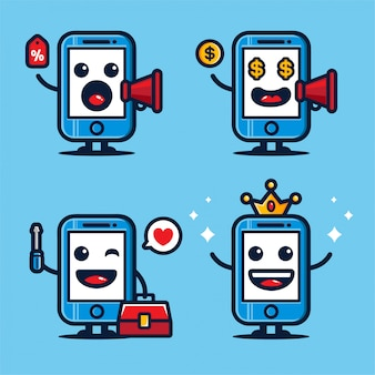 Conception mignonne de mascotte mobile