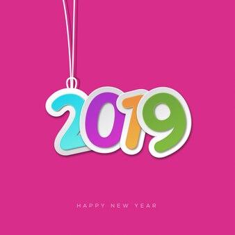 Conception mignonne de nouvel an 2019