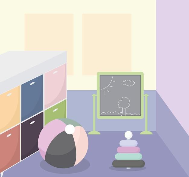 Conception mignonne de salle de jeux
