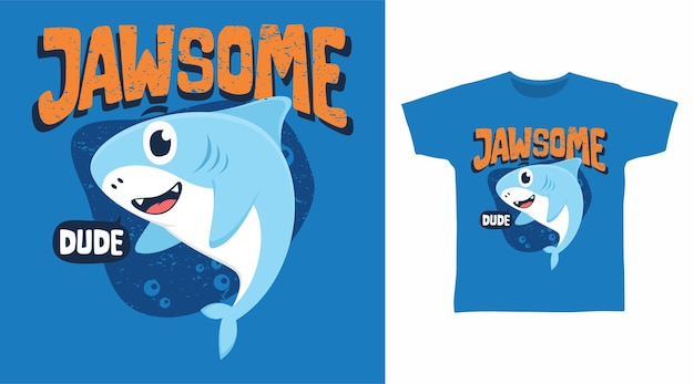 Conception mignonne de t-shirt de requin mâchoire
