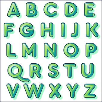 Conception mignonne de typographie verte arrondie