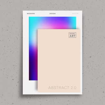 Conception minimale abstraite pour flyer, affiche, couverture de brochure, modèle de portefeuille, papier peint, typographie ou autres produits d'impression. illustration vectorielle.