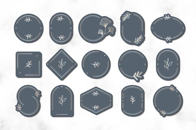 Conception minimale de cadres botaniques
