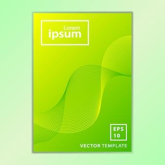 Conception minimale de la couverture de la brochure commerciale