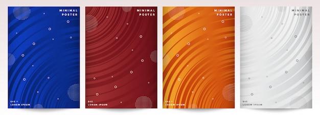 Conception minimale des couvertures. abstrait géométrique
