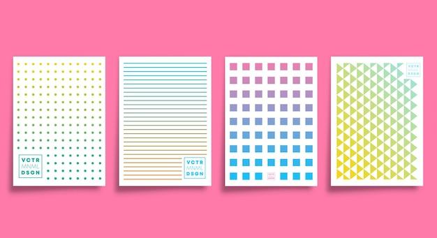Conception minimale pour les cartes, affiches, prospectus, couvertures de brochures, arrière-plans, papiers peints, typographies ou autres produits d'impression. illustration vectorielle.