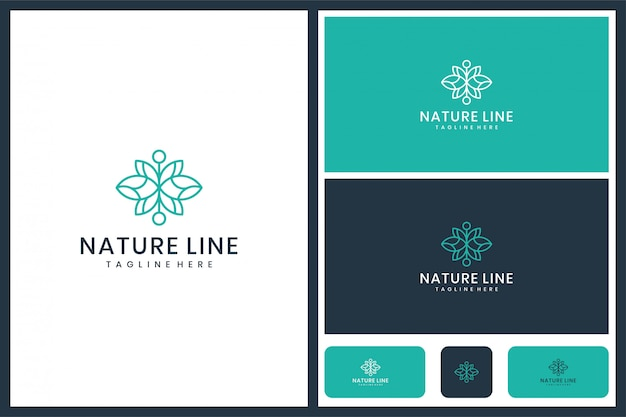 Conception minimaliste de feuille de logo