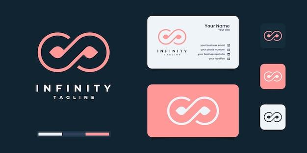 Conception minimaliste de logo et de carte de visite de beauté d'infini, beauté, infini, inspiration de logo de concept