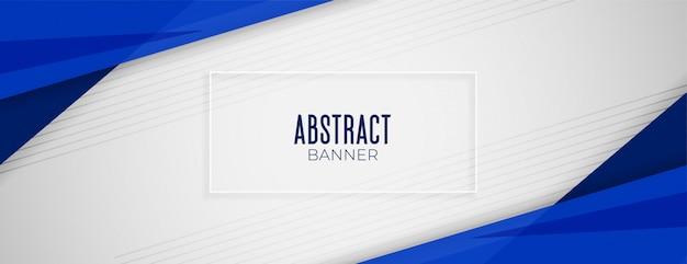 Conception de mise en page bannière géométrique abstrait fond large bleu