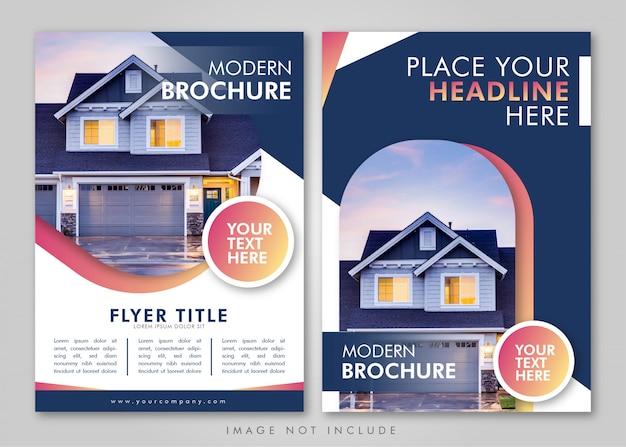 Conception de la mise en page de la brochure immobilière