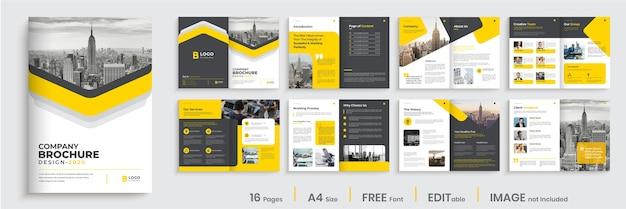 Conception de mise en page de modèle de brochure d'entreprise