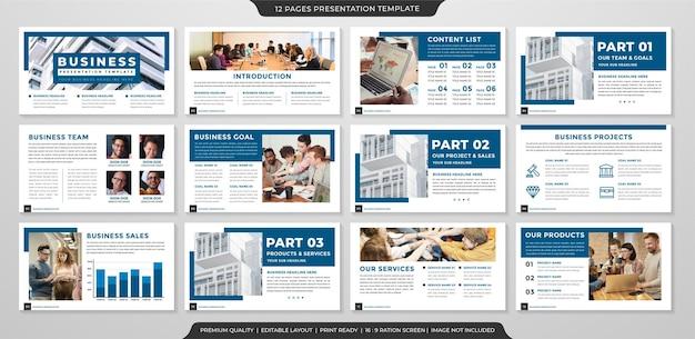 Conception de mise en page de modèle d'entreprise polyvalente