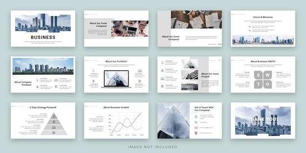 Conception de mise en page de présentation d'entreprise avec infographie