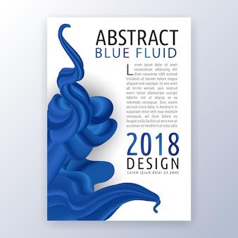 Conception de mise en page publicitaire polyvalente. convient pour le dépliant, la brochure, la couverture du livre et le rapport annuel. résumé fond liquide bleu.