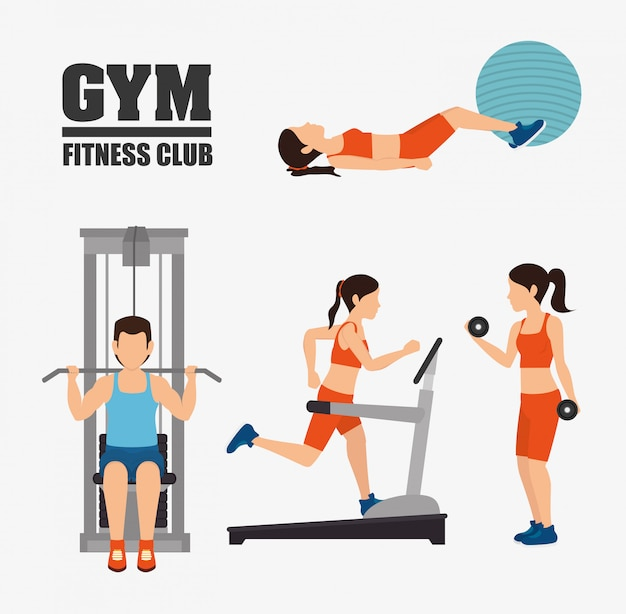 Conception de mode de vie de gymnase et de fitness