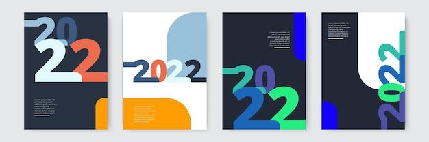 Conception de modèle 2022 typographie forte coloré et facile à retenir conception pour la présentation de la marque ...