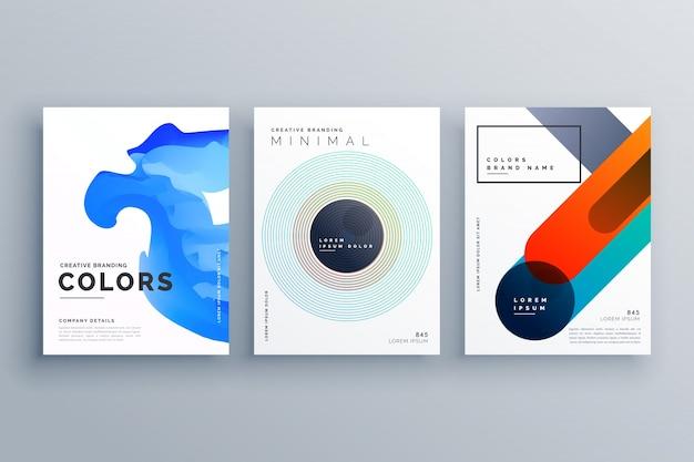 Conception de modèle abstrait business créatif brochure vecteur
