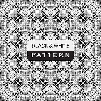 Conception de modèle abstrait noir et blanc