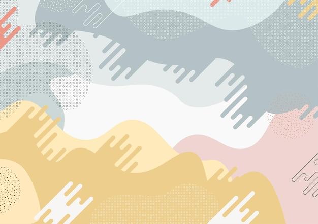 Conception de modèle abstrait de style minimal ondulé avec fond de style géométrique