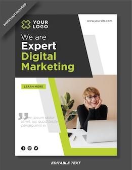 Conception de modèle d'affiche d'agence de marketing numérique