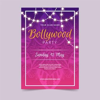 Conception de modèle d'affiche de fête de bollywood