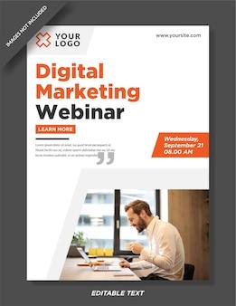 Conception de modèle d'affiche de webinaire sur le marketing numérique