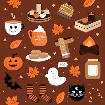 Conception de modèle d'automne et d'halloween