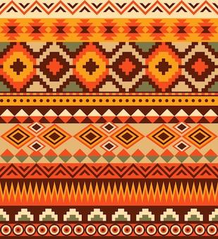 Conception de modèle aztèque ethnique sans soudure.