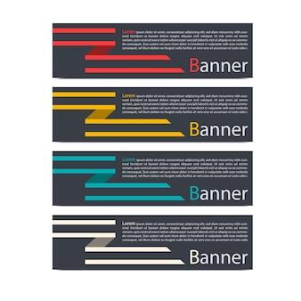 Conception de modèle de bannière abstraite