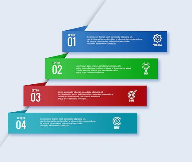 Conception de modèle de bannière d'entreprise infographique