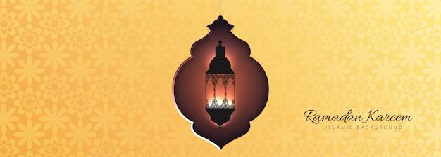 Conception de modèle de bannière festival islamique
