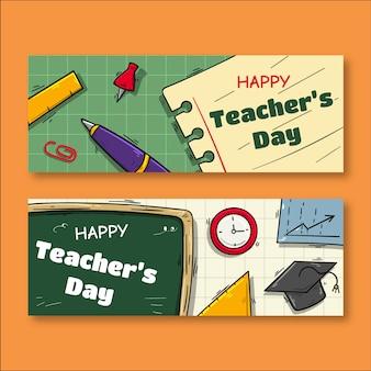 Conception de modèle de bannière pour la journée des enseignants