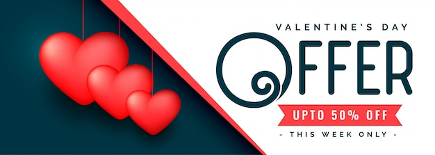 Conception de modèle de bannière de promotion de vente de saint valentin