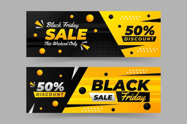 Conception de modèle de bannière vendredi noir
