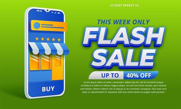 Conception de modèle de bannière de vente flash