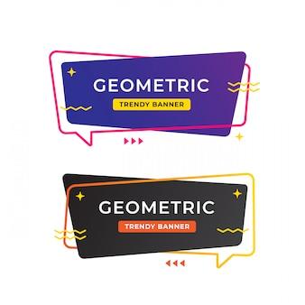 Conception de modèle de bannière de vente géométrique, offre spéciale de grande vente. bannière d'offre spéciale de fin de saison. élément graphique de promotion abstraite.