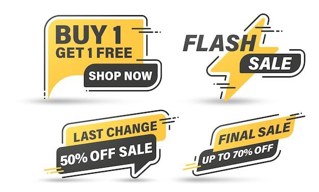 Conception de modèle de bannière de vente pour le web, vente flash 70% de réduction.