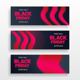 Conception de modèle de bannière web vendredi noir
