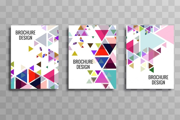 Conception de modèle de brochure abstrait buisness coloré