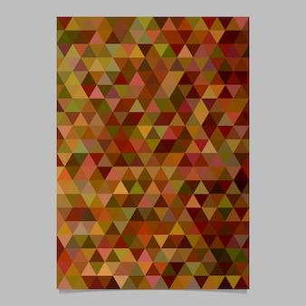 Conception de modèle de brochure abstrait couleur