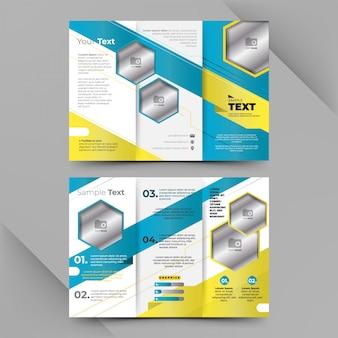 Conception de modèle de brochure d'affaires trois volets