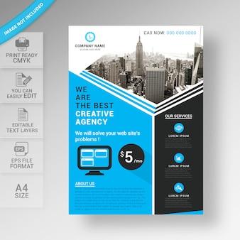 Conception de modèle de brochure business flyer