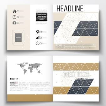 Conception de modèle de brochure carré